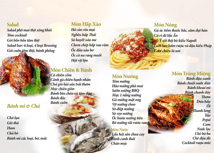 menu tiệc buffet