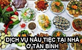 Dich vu nau tiec tai nha quan Tan Binh