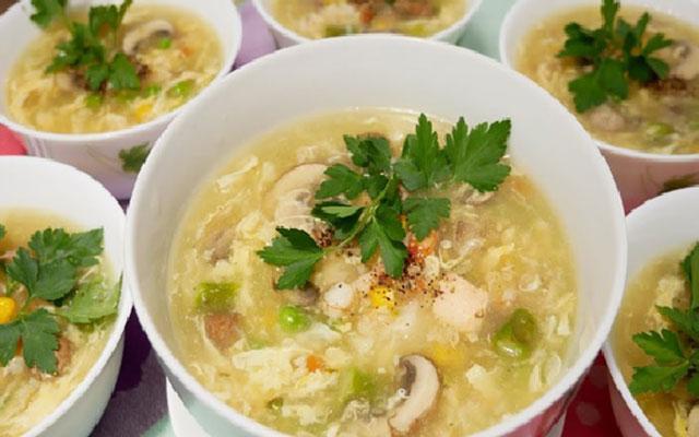 Cách làm món súp tôm cua tại nhà