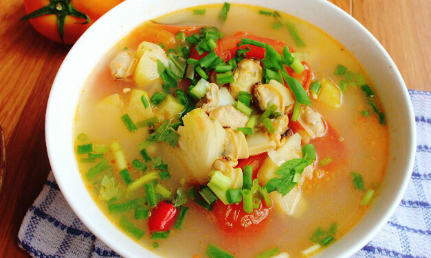 Cách nấu canh ngao chua dứa ngon