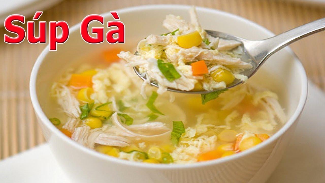 Công thức chế biến món súp gà măng tươi