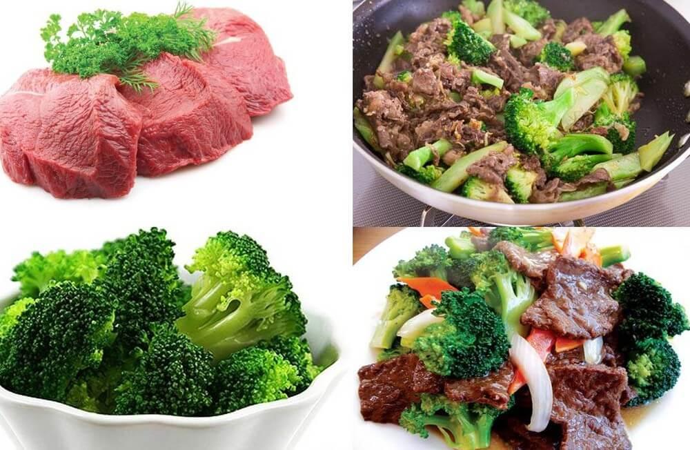 Thịt bò xào súp lơ xanh nhiều calo