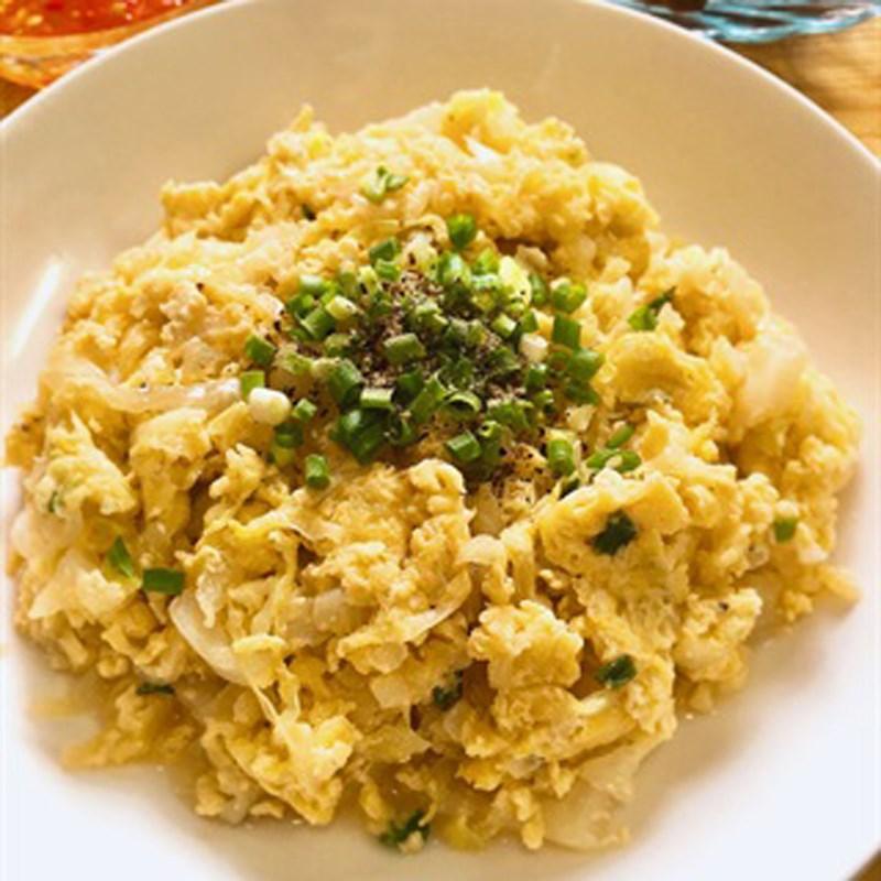 Rau cải thảo xào trứng
