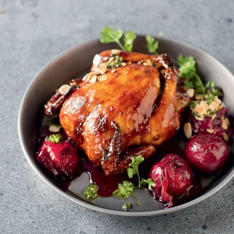 Cách làm món thịt gà nấu mứt mận
