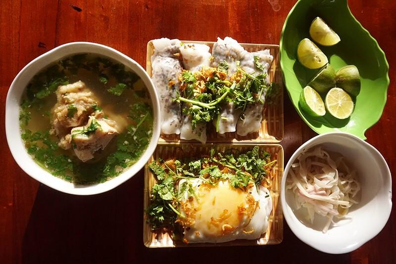 Bánh cuốn trứng Hà Giang