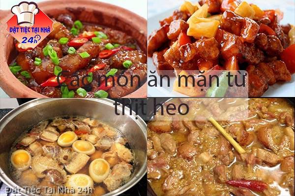 các món ăn mặn từ thịt heo