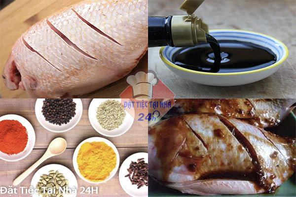 cá diêu hồng hấp xì dầu