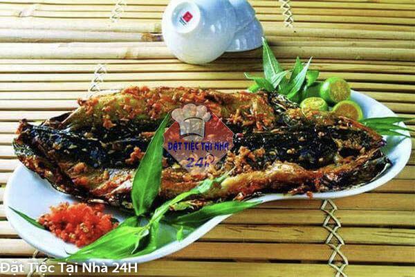 cá trê nướng sa tế